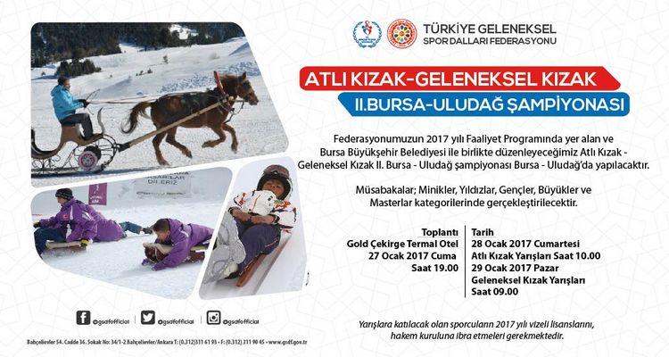Atlı Kızak Geleneksel Kızak 2. Bursa - Uludağ Şampiyonası