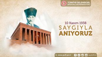 Tarihe yön vermiş lider, Türkiye Cumhuriyeti'nin kurucusu Gazi Mustafa Kemal Atatürk'ü aramızdan ayrılışının 82. yıl dönümünde saygı, sevgi ve rahmetle anıyoruz.