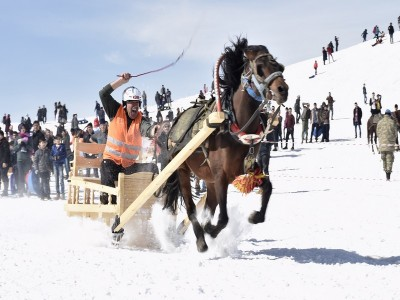 1. Ahir Dağı Atlı Kızak - Geleneksel Kızak Türkiye Şampiyonası Gerçekleştirildi